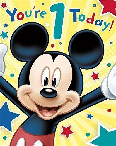 Carlton Disneys Mickey Mouse 1st Birthday Card 11 Niftywarehouse