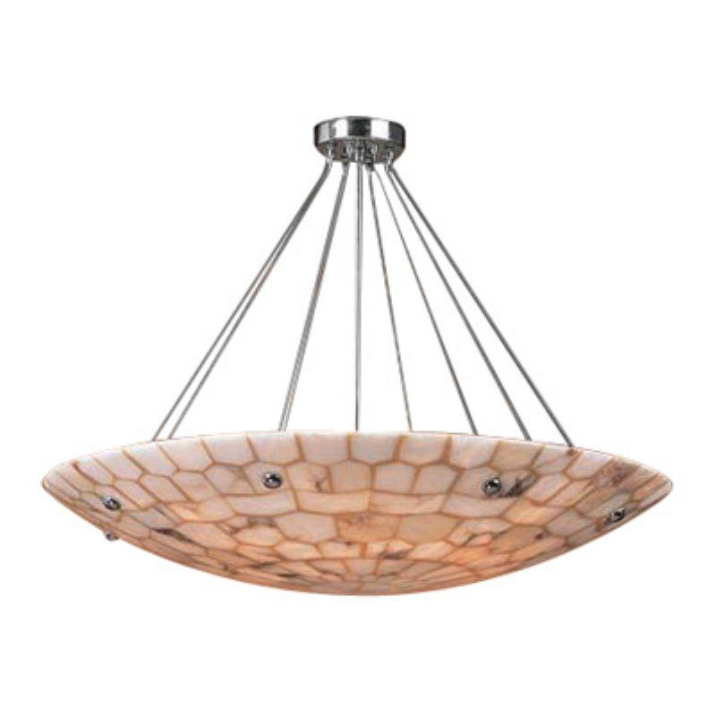ELK Spanish Mosaic Pendant Light - 32W inc. Polished Chrome - 8852/8