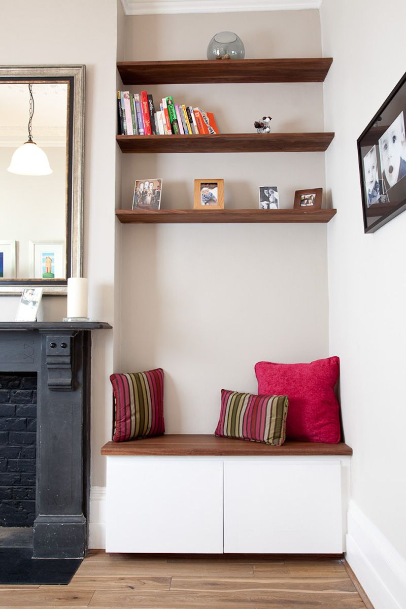 incredible living room alcove decorating ideas | Living | Sola Kitchens in 2019 | Living room storage ...