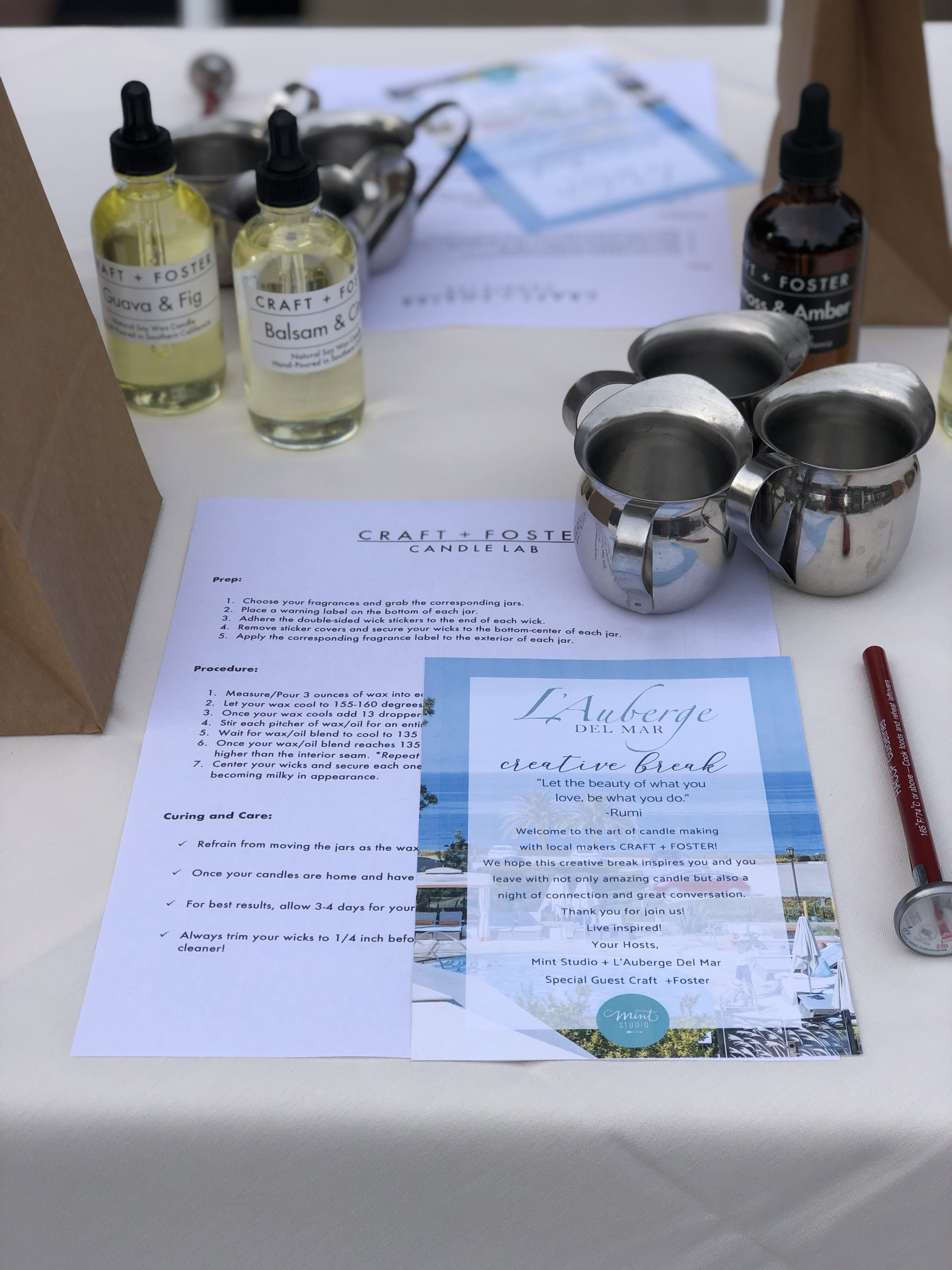 This Candle Workshop Provided Guests With The Opportunity To Meet