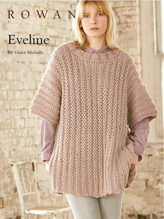 Free pattern for Eveline by Grace Melville. Knitted in Rowan Big ...