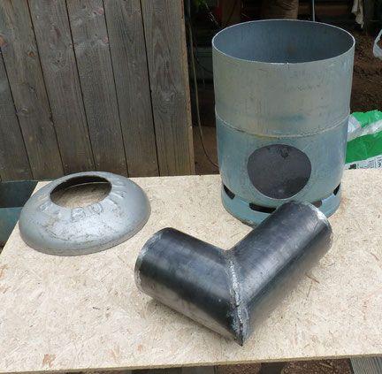 Rocket stove Bouteille de gaz Home decor Estufas, Estufas - Echangeur Air Air Maison