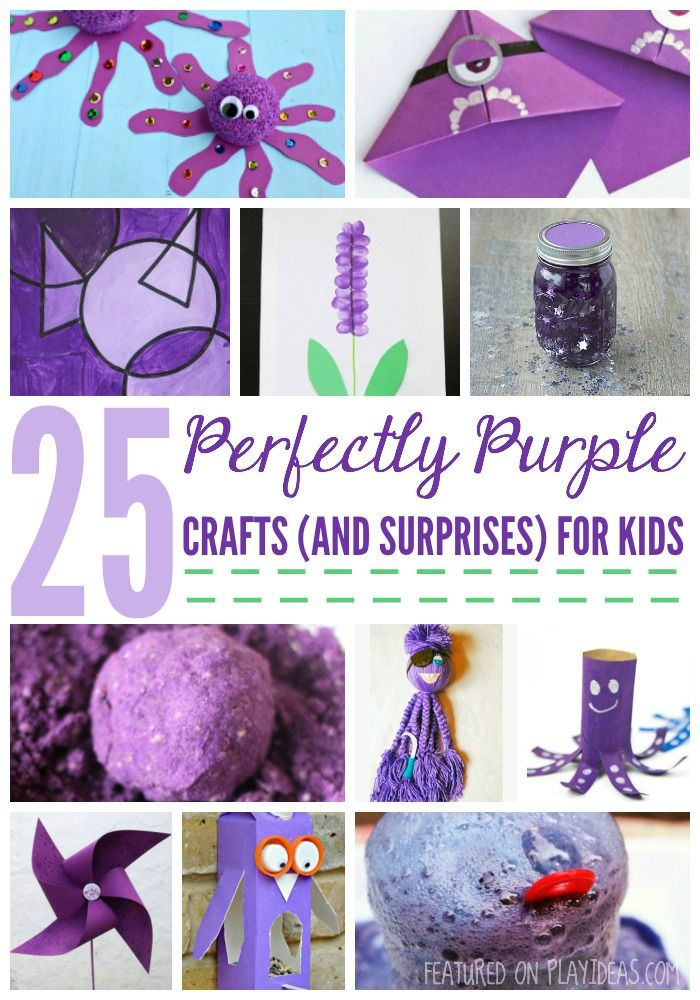 25 Perfectly Purple Crafts And A Few Surprises For Kids Purple
