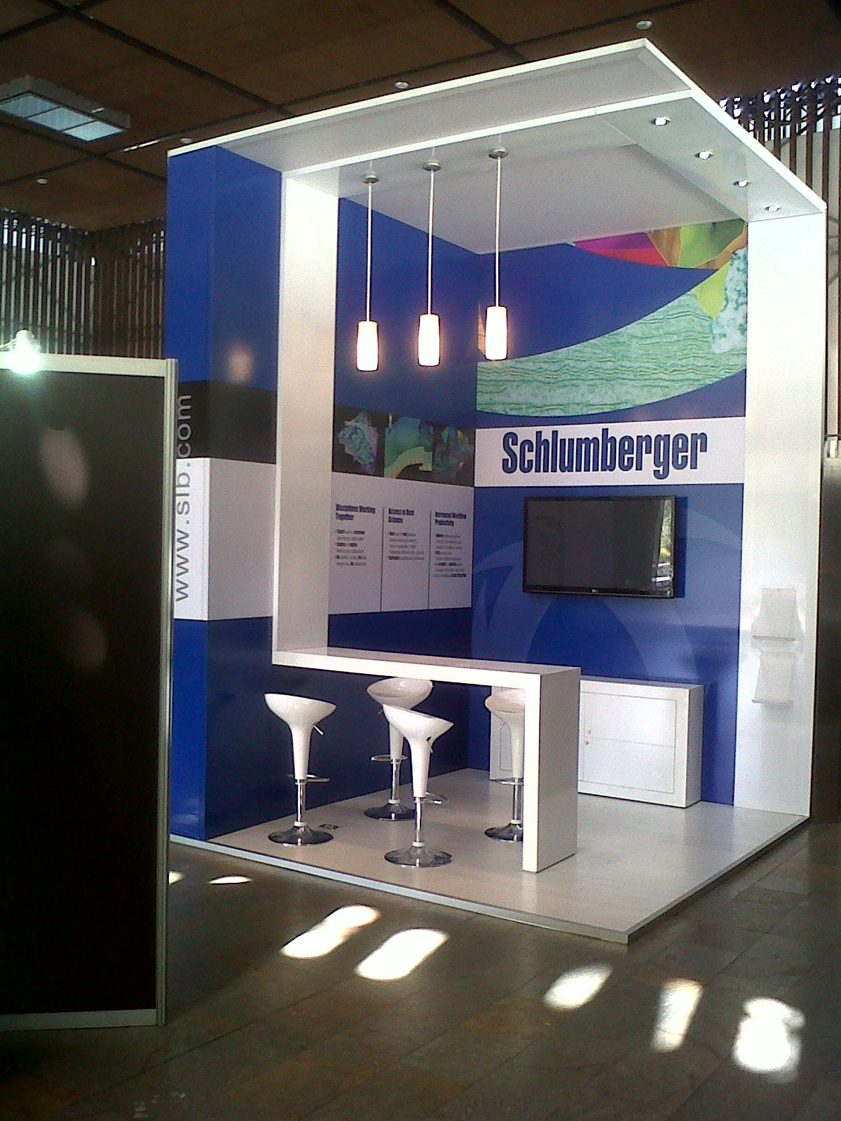 Exhibition Stand Shelves : Schlumberger stand by jorge cortés at coroflot