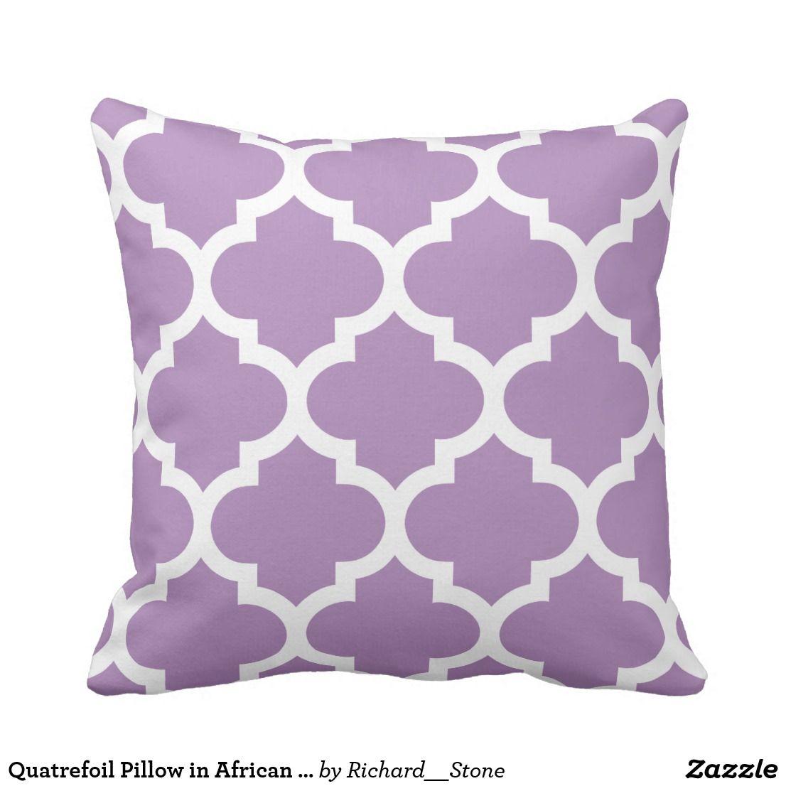 Quatrefoil pillow in african violet purple quatrefoil pillows and
