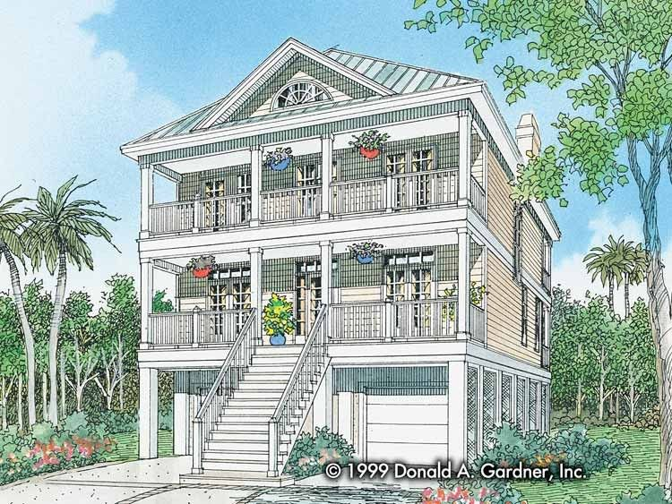 Classical Style House Plan 3 Beds 2 5 Baths 2228 Sq Ft Plan 929 506 Beach House Plans Coastal House Plans Beach House Design