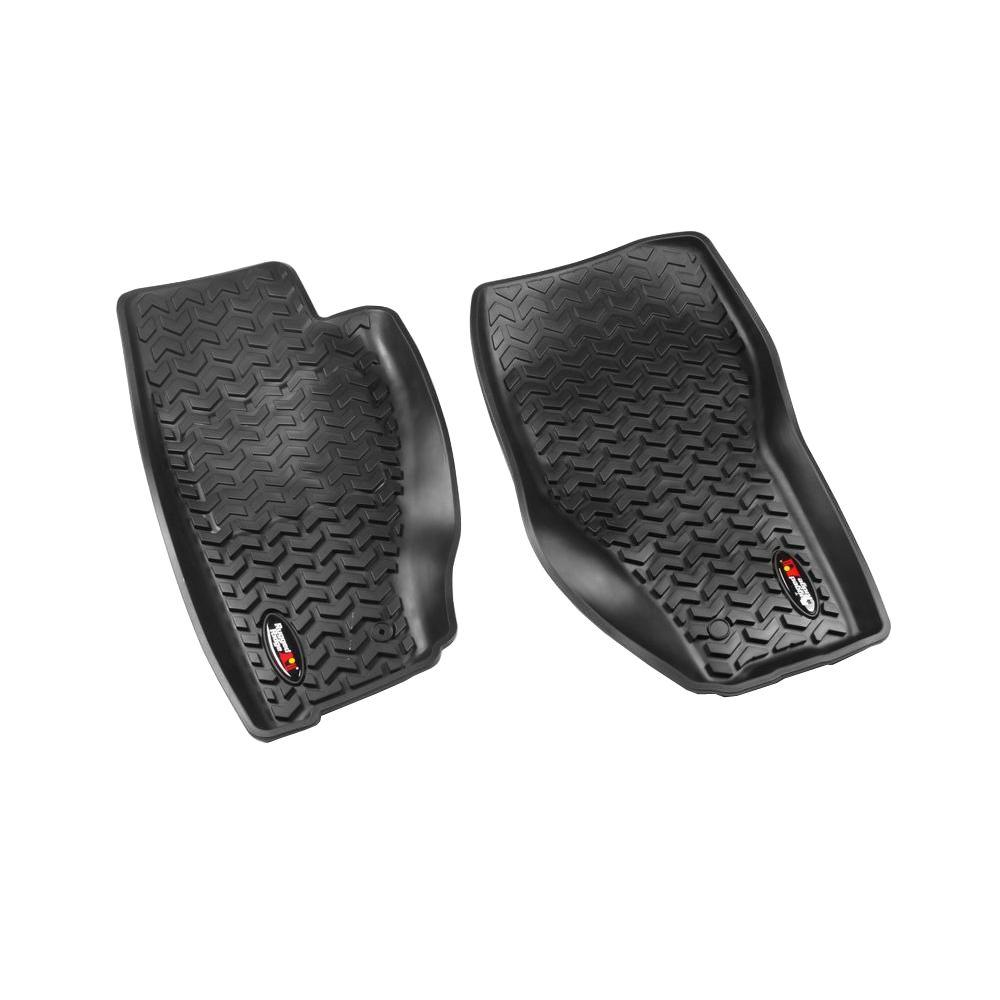 Rugged Ridge Floor Liner Front Pair Black 20082013 Jeep