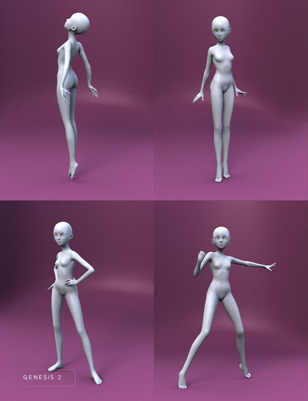 Bell Anime Poses For Keiko 6 And Aiko 6 3d Models And 3d Software By Daz 3d Art Reference Poses Anime Poses Drawing Poses