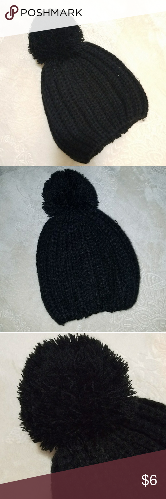 ae5387ece9 ❄Warm Knitted PuffPom Beanie Knitted. Big Puffy Knitted [Yarn] Pin ...