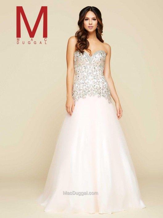 21e710d21de Size 10 Ivory-Gold Mac Duggal 65265H Sweetheart Ball Gown