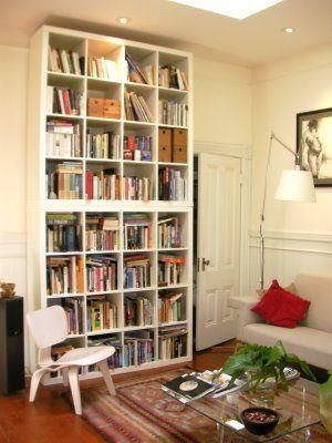 Stacked Ikea Expedit Shelves Hjem Hjemmekontor