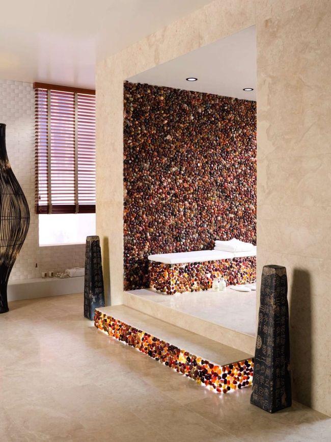 bad mosaik fliesen dune AGATA kieselsteine optik | Mosaik ... | {Bad modern mosaik 63}