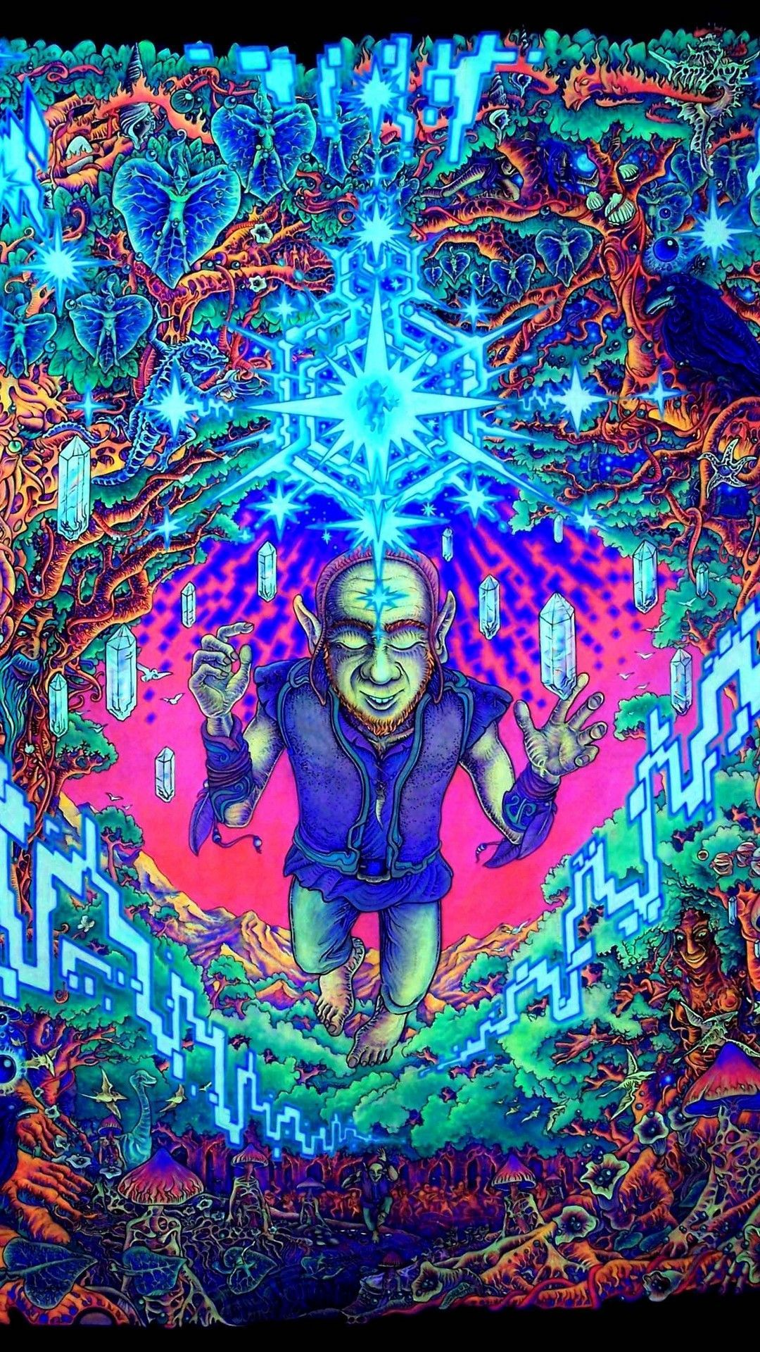 Psychedelic Crazy Wallpaper Home Screen in 2020 Trippy