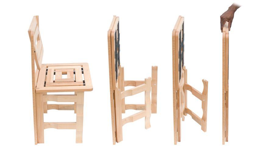 Sedie richiudibili in legno salvaspazio LG Lesmo