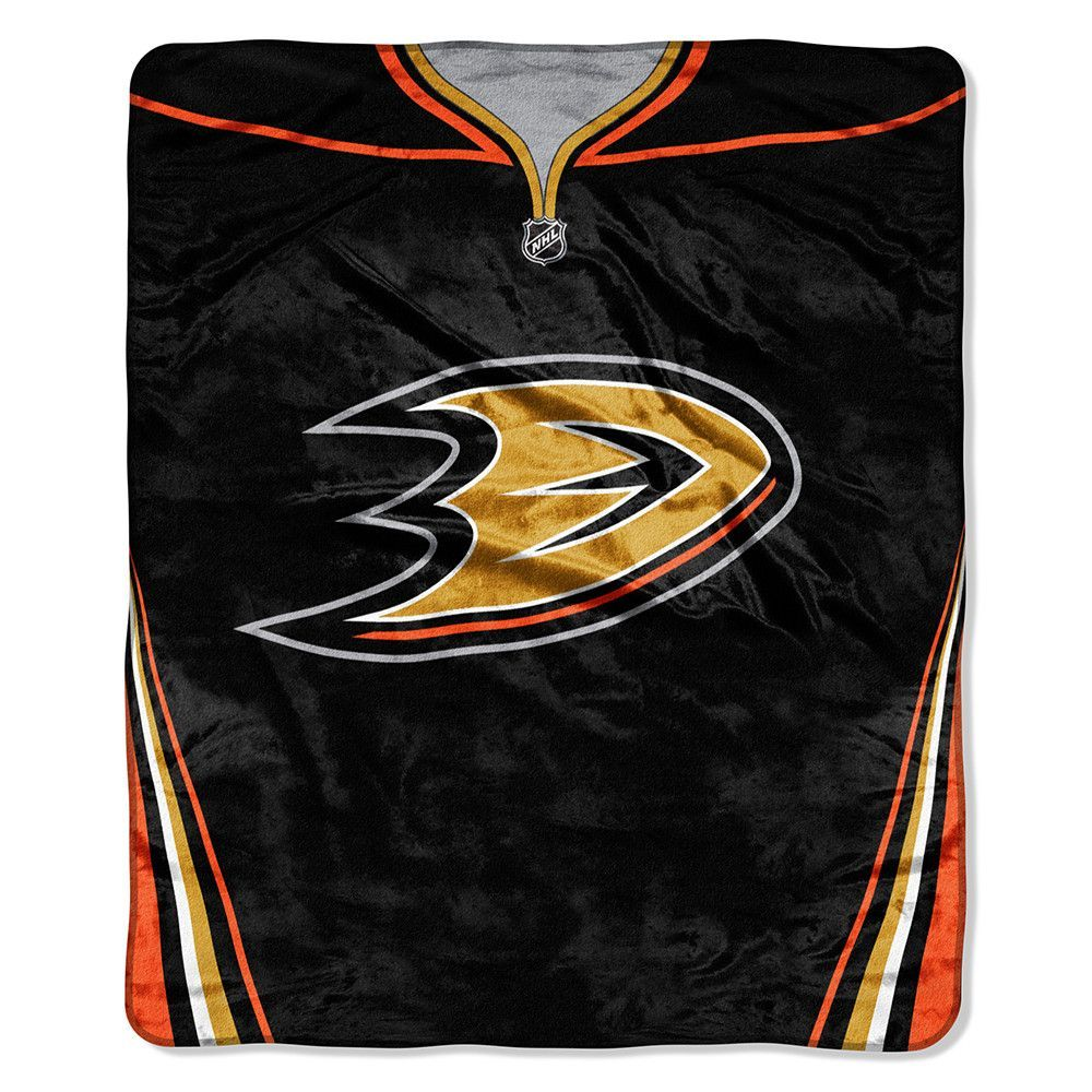 Anaheim Ducks NHL Royal Plush Raschel Blanket Jersey Series 50in x 60i