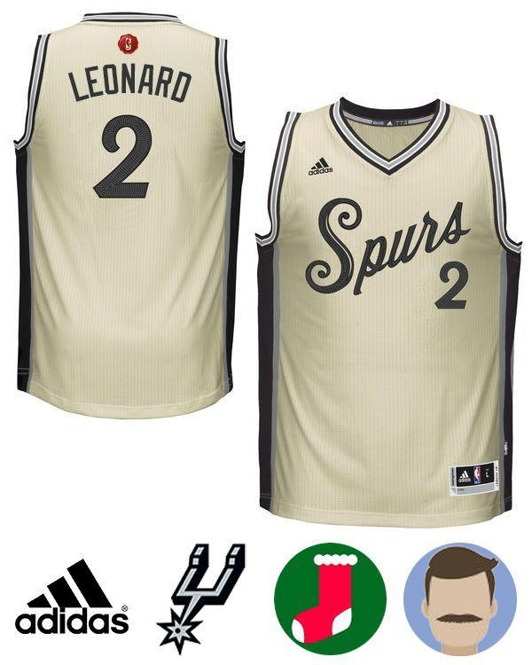Men's Adidas Kawhi Leonard khaki Christmas Jersey | Tony