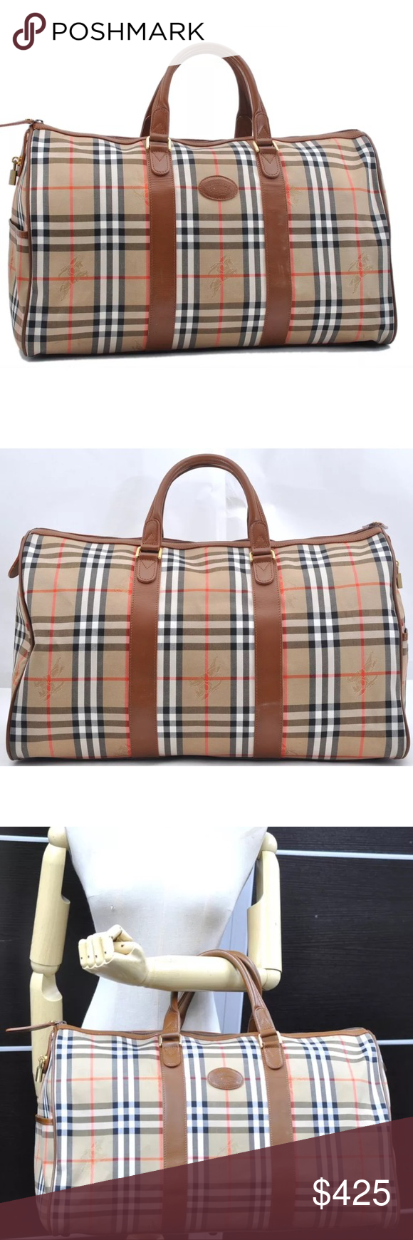 4fdf6ca35ac2 Authentic BURBERRY unisex travel bag Weekender Authentic Burberry travel bag  Weekender. Classic nova