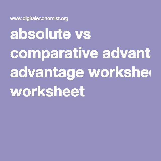absolute advantage vs comparative