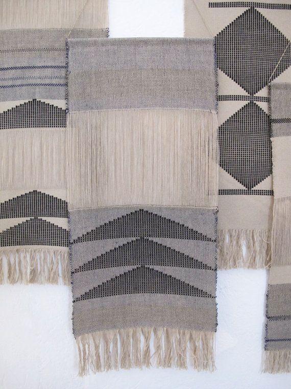 Handwoven wall hanging/ Fiber art/ Tapestry/ Weaving/ Cotton & linen