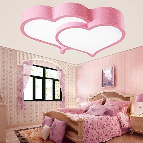 ZQ LED herzförmige Decke Lampen Mädchen Kinder Zimmer