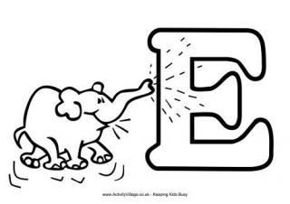 Alphabet Colouring Pages E Words For Kids Alphabet Coloring Pages Alphabet Coloring