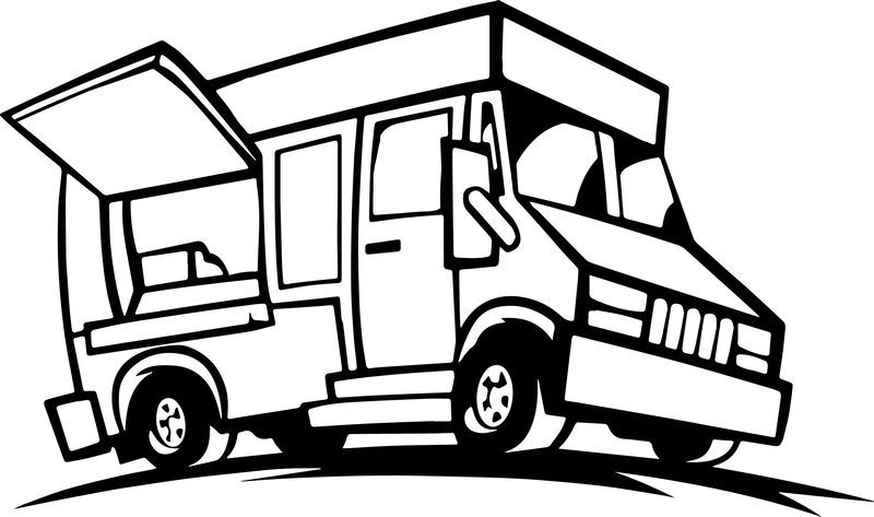 Food Truck Coloring Page Truck Coloring Pages Dinosaur Coloring