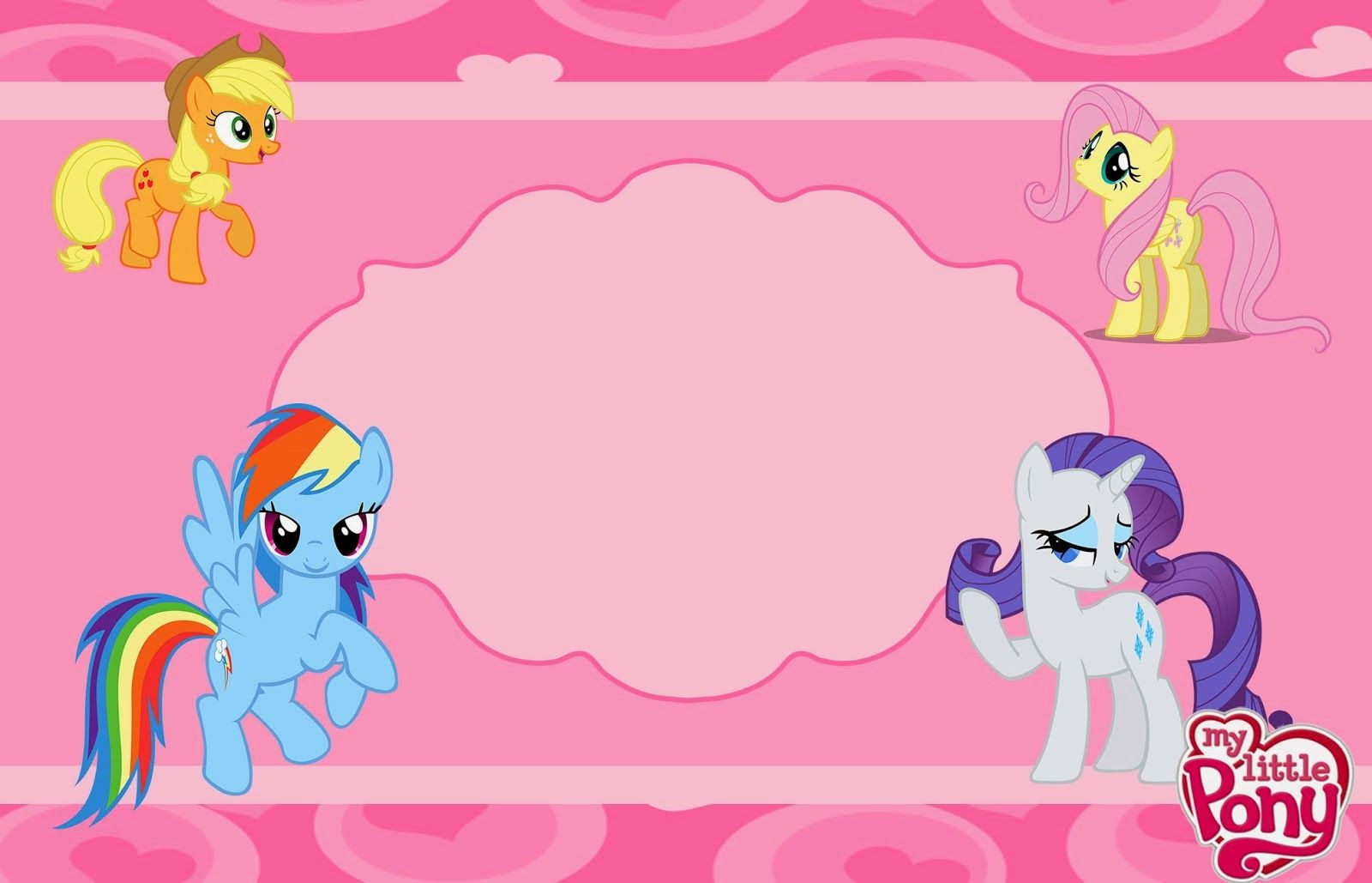 My Little Pony Party Free Printable Invitations Oh My