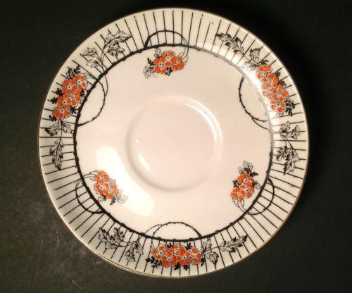 Vtg Halloween Decoration Plate Wetley Bone China Blossom England Black Orange | eBay