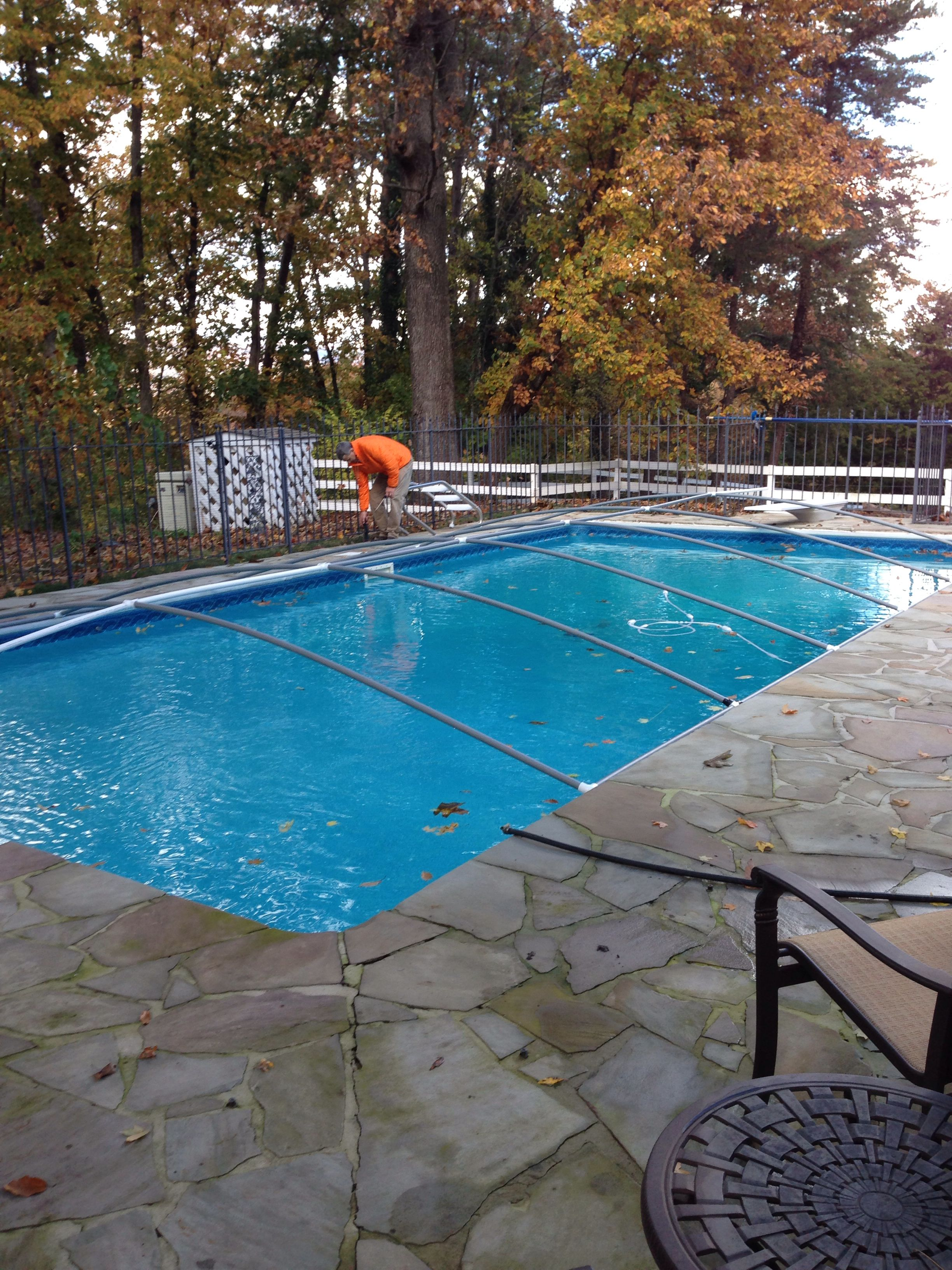 Pool Frame Rund Diy Pvc Pipe Pool Cover Frame My Husband Is A Genius Pvc