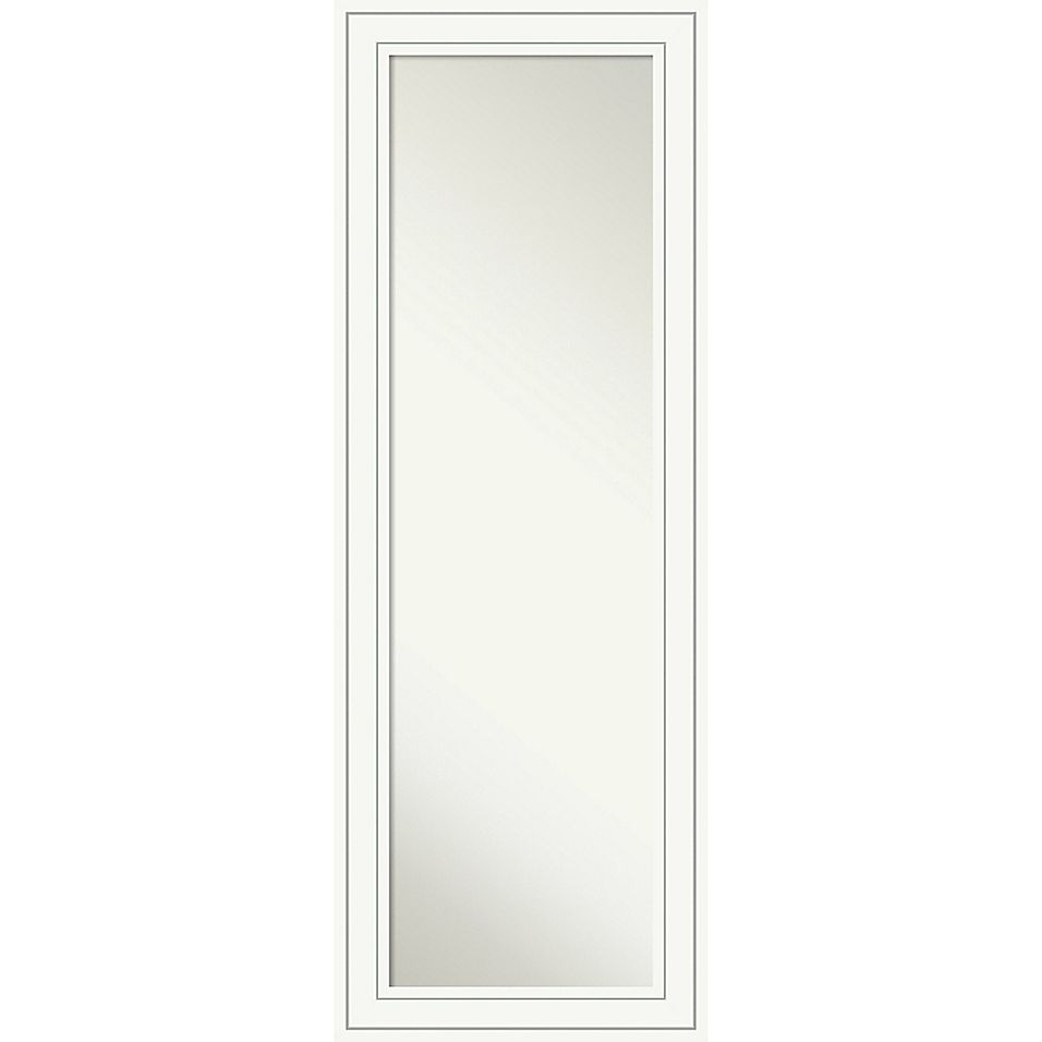 Amanti Art Craftsman 19-Inch x 53-Inch Framed On the Door Mirror in White