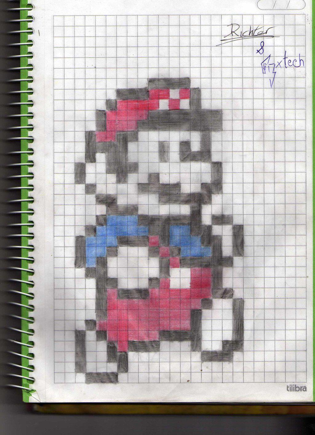 Mario Brost Cuaderno Cuadriculado Dibujos En Cuadricula