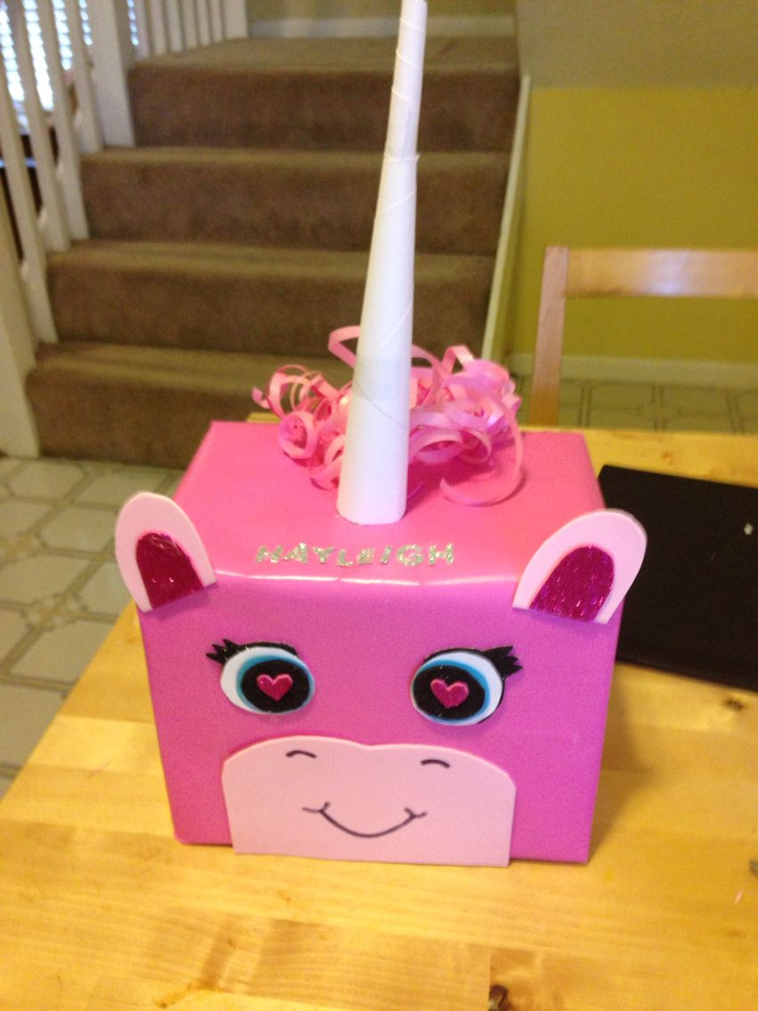 Unicorn Pony Valentine Box Valentines Day Pinterest Valentine