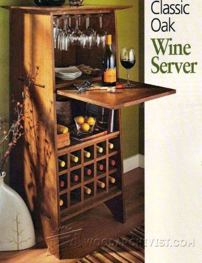 99 Classic Oak Wine Server   Furniture Plans And Projects