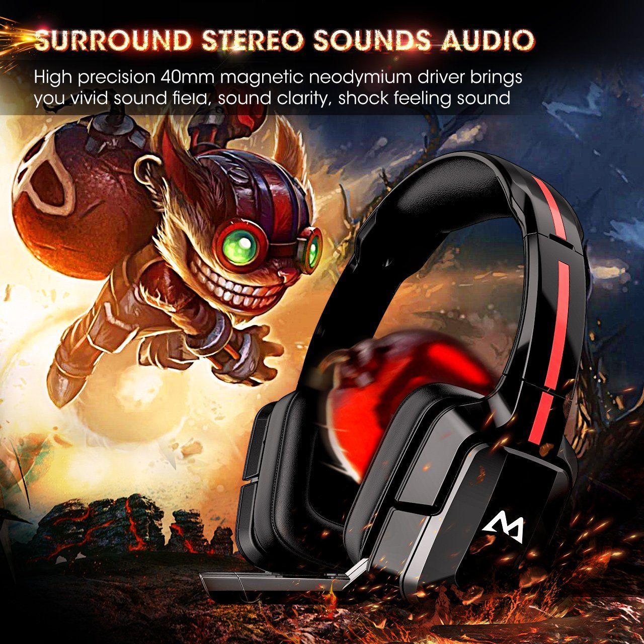 Mpow EG2 Gaming Headset for PC, Xbox one, PS4, Lightweight