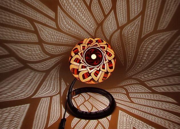 Artist Przemek Krawczyński Of Poland Has Created U201cCalabarteu201d Decorative  Carved Gourd Lamps