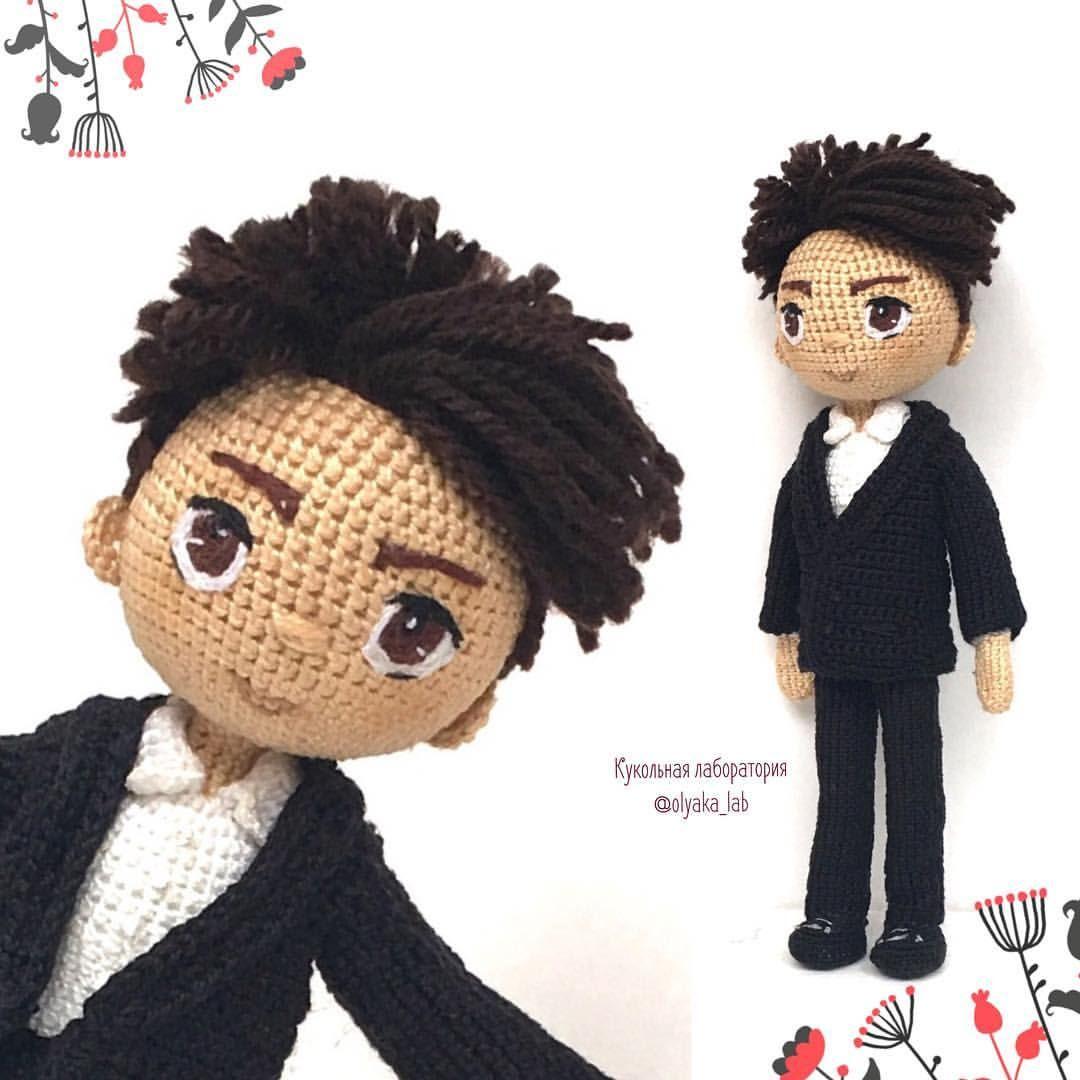 racniizrabotki #punëdore #handmade #crochet #amigurumi #boy #doll ... | 1080x1080