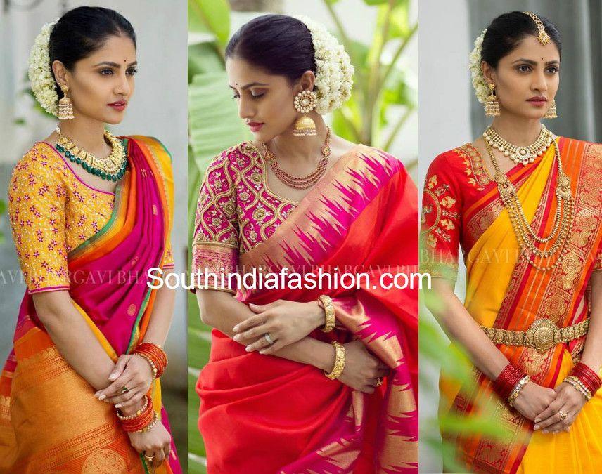 727e61ef87dcec Kanjeevaram Sarees and Designer Bridal Blouses by Bhargavi Kunam • South  India Fashion