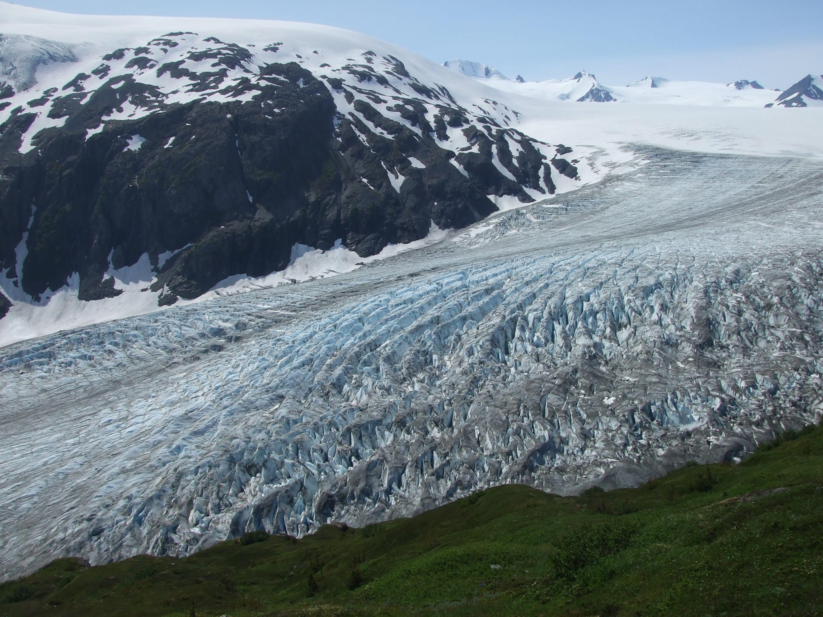 Harding ice field kenai fjords national park alaska