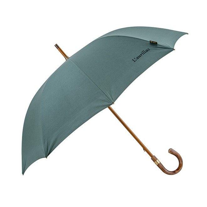 6e1a31090c38 Le chic du vert anglais pour un parapluie L Aurillac fabriqué en France.  Toile