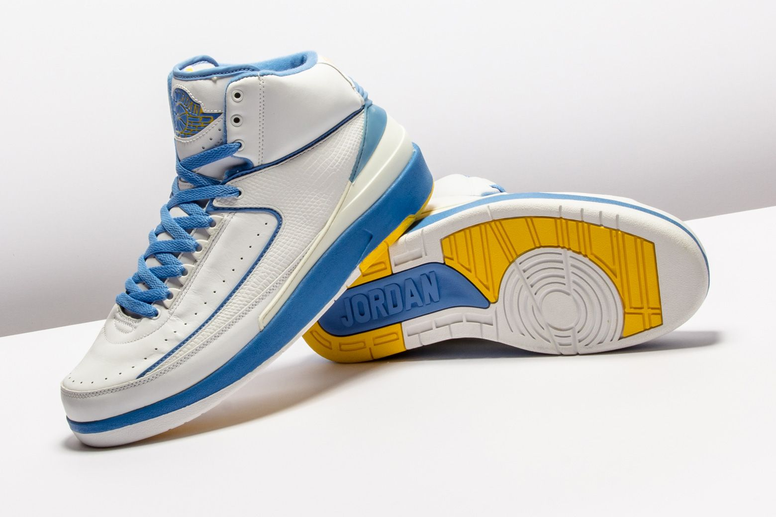8fb55adfcaf28f Air Jordan 2 Retro White University Blue  Carmelo  in 2019