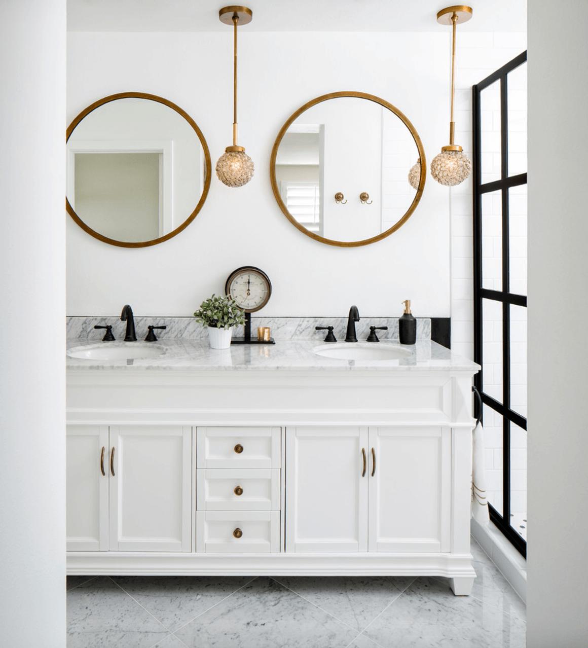 15 Home Design Trends That Rocked 2016 Round Mirror Bathroom