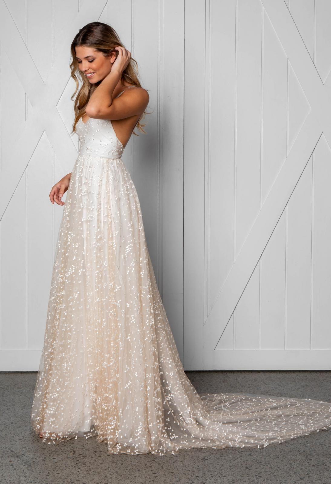 Menha Gown Blush Wedding Dress Wedding Dresses Perfect