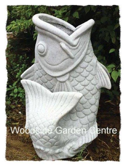 Large Koi Fish Planter Enigma Garden Statue Ornament Listing In The