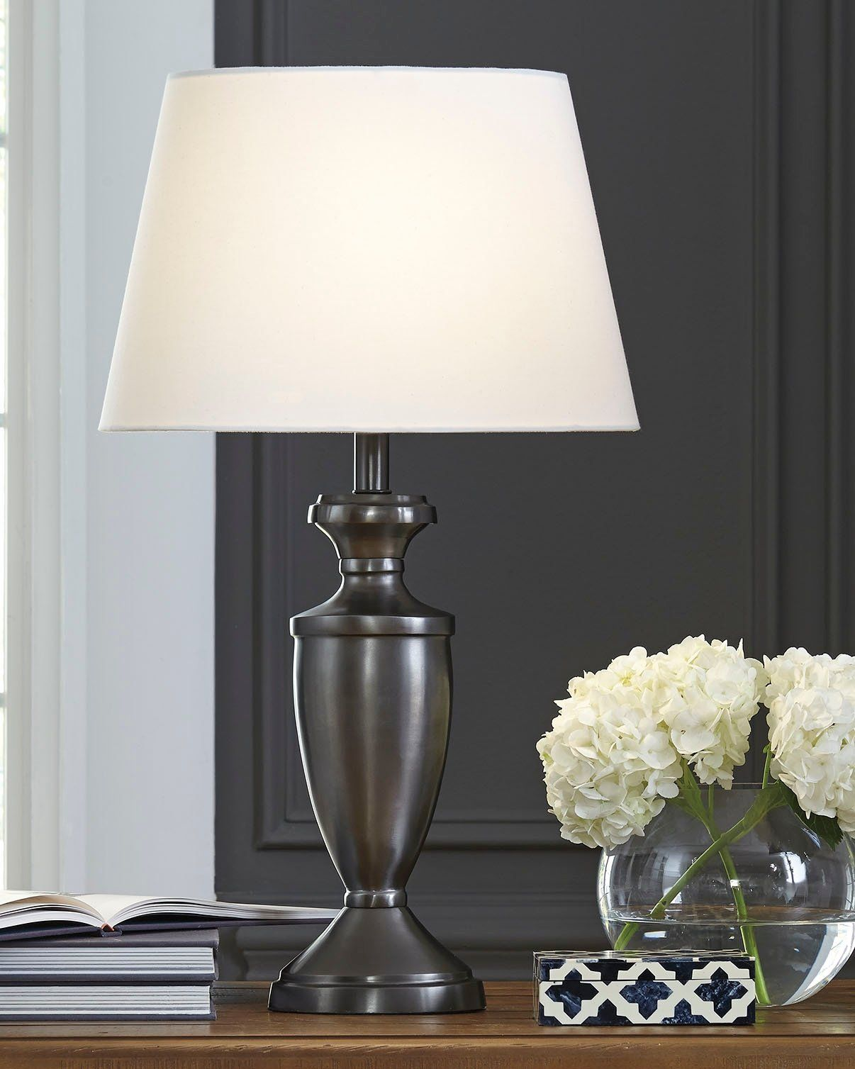 Signature Design By Ashley L204034 Ander Table Lamp Set Of 2 Black Nickel Finish Continue To The Product At The Metal Table Lamps Table Lamp Sets Table Lamp