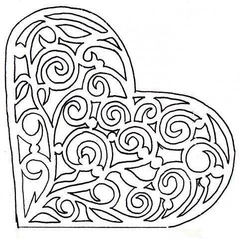 Nr 2 Herzkarte Scherenschnitt Herz Scherenschnitt Herz Karte 14