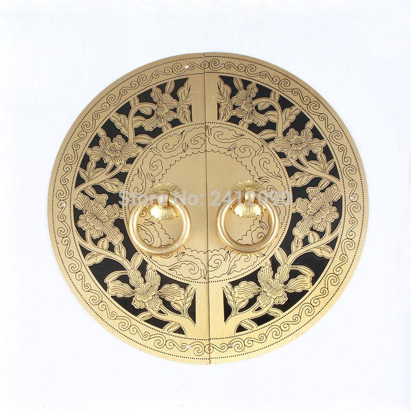 Chinese Antique Furniture Hardware Accessories Brass Round Vintage