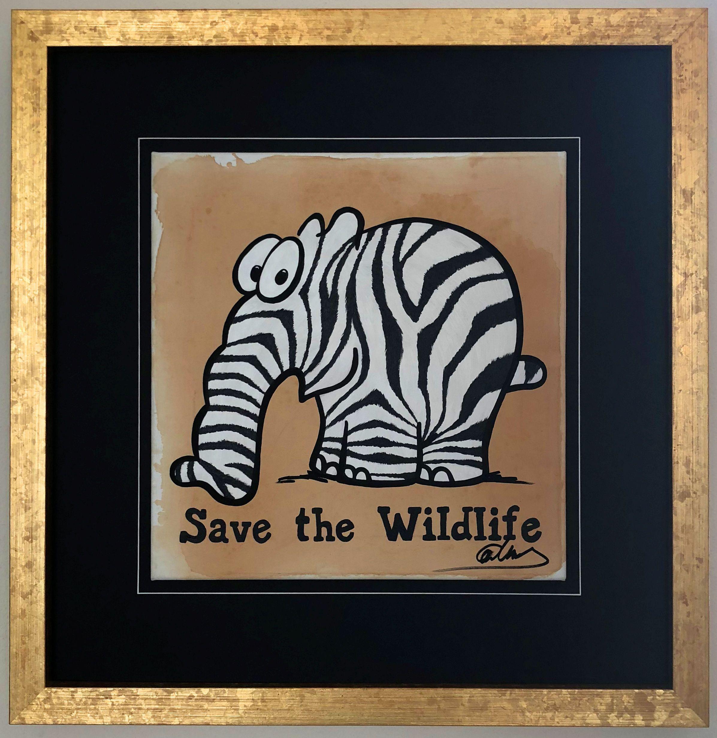 Save The Wildlife Gemalde Von Otto Waalkes Gemalde Artpop Kunst