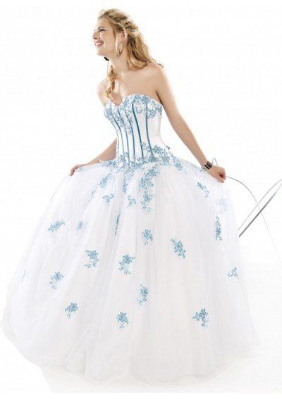 Appliqued Organza&Satin Ball Gown Evening Gown