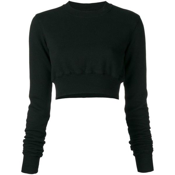 c6452b216f227 Rick Owens DRKSHDW cropped jumper (495 CAD) ❤ liked on Polyvore featuring  tops