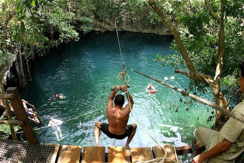 Zipline Jump Cenote Lucero Mexico Mexico Travel Morelos Puerto Morelos